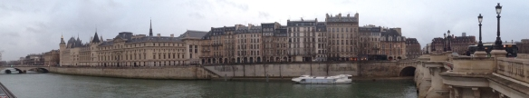 Quai de l'Horloge today (December 2013). Breguet's atélier was in on of these houses.